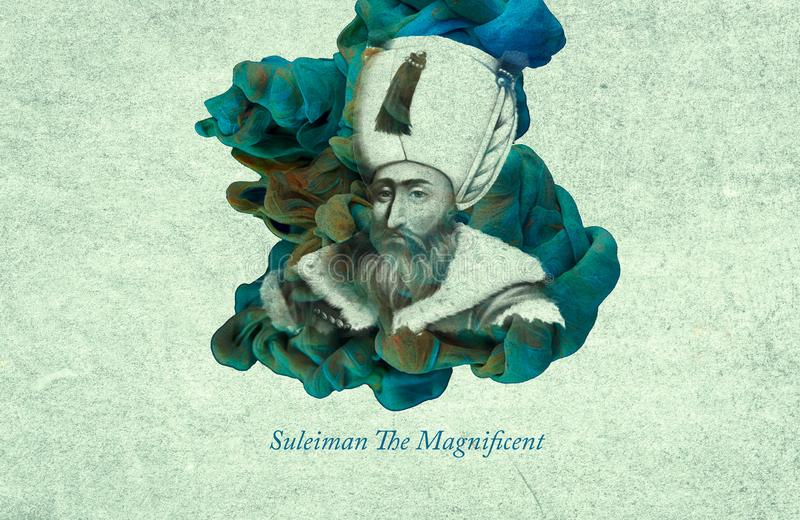Imperador Suleiman The Magnificent ilustração stock