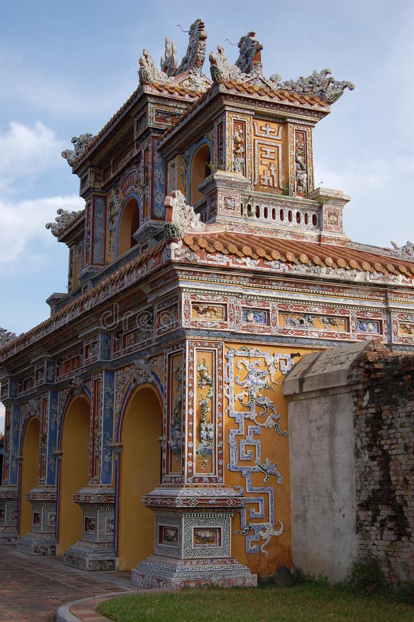 Imperator palace Hue Vietnam stock photography