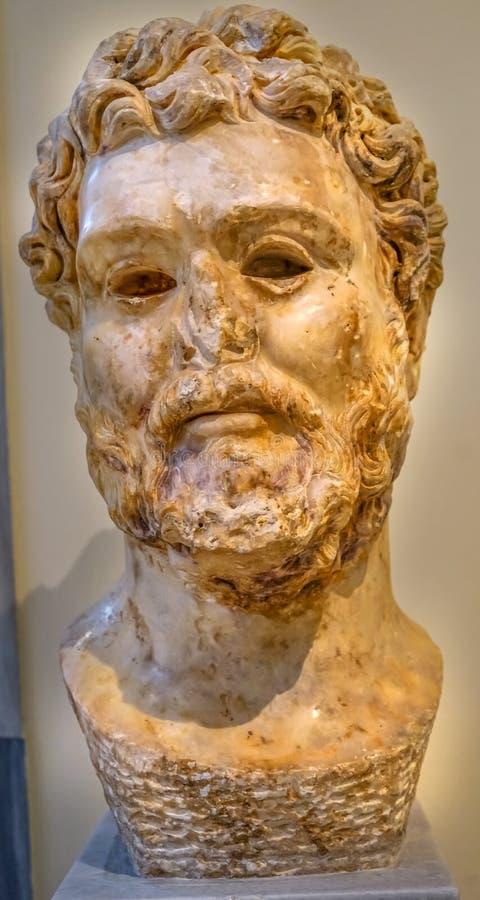 Imperatore Septimius Severus Statue National Archaeological Museum fotografia stock libera da diritti