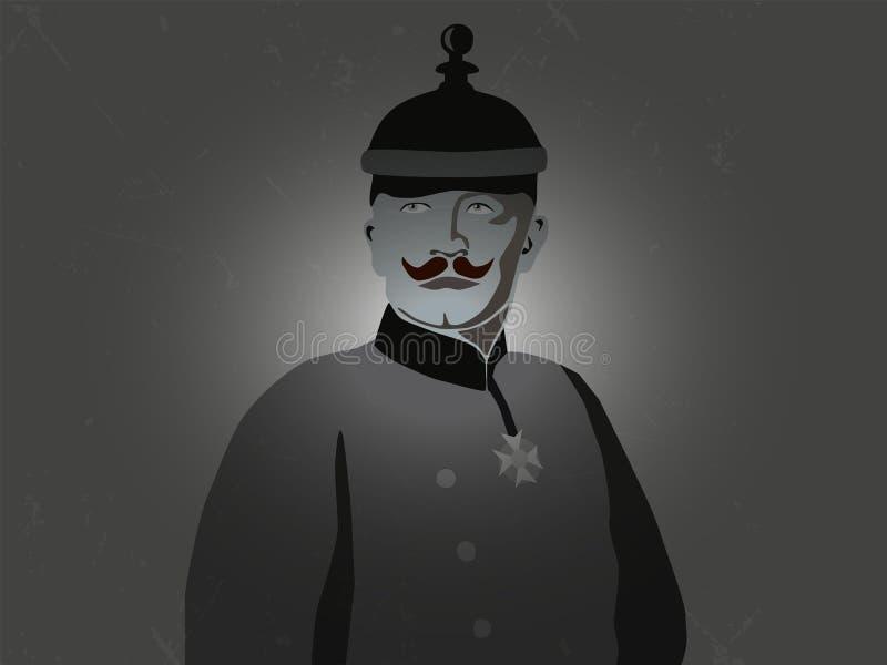 Imperatore Wilhelm il secondo con il cappello prussiano fotografia stock libera da diritti