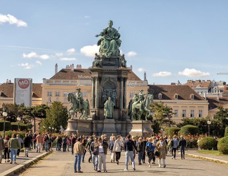 Imperatorowej Maria Theresa zabytek, Wiedeń, Austria obrazy royalty free