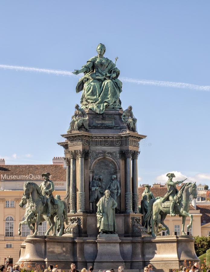 Imperatrice Maria Theresa Monument, Vienna, Austria fotografia stock libera da diritti