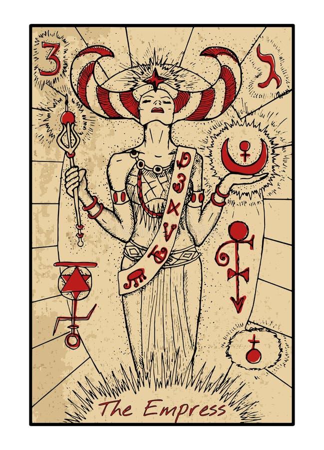 A imperatriz O cartão de tarô ilustração royalty free