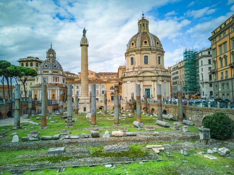 Imperiał Dla Fori Imperiali w włoszczyźnie Rzym, Włochy zdjęcie stock