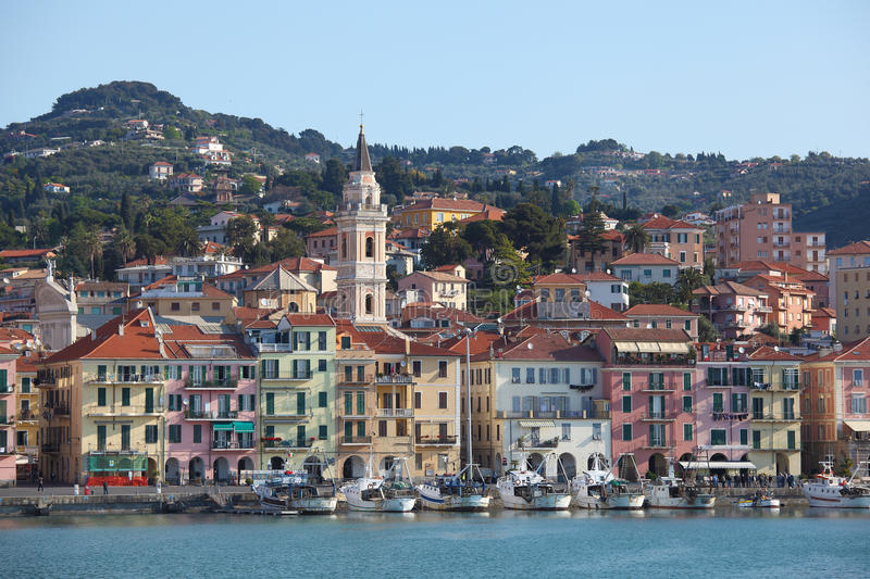 Imperia Oneglia Fishing Port Royalty Free Stock Image