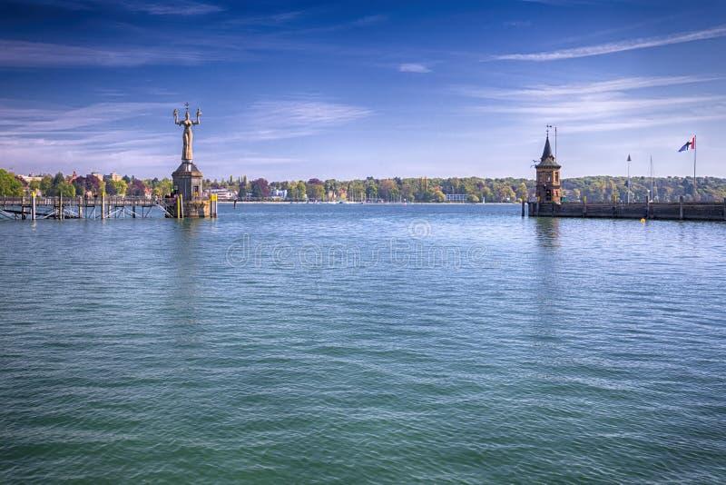 Imperia statua w schronieniu Constance, Niemcy zdjęcie royalty free