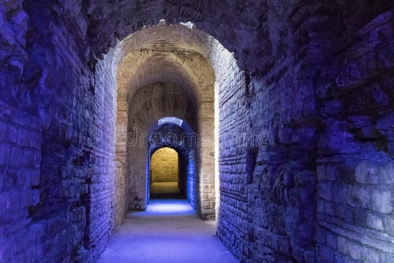 Imperial Baths, Trier, Germany stock photography