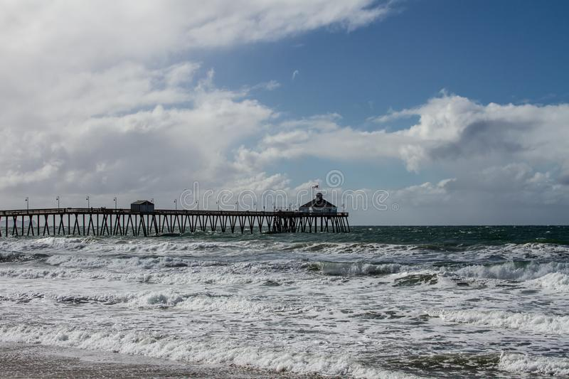 Imperial Beach San Diego California Pier royalty free stock image