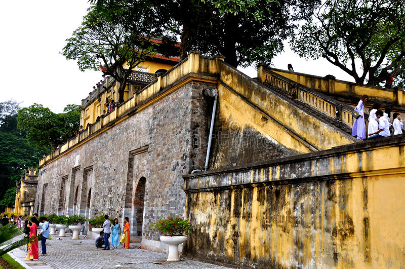 Imperial Citadel of Thang Long,Hanoi, vietnam. The Imperial Citadel of Thang Long is the cultural complex comprising the royal enclosure first built during the stock photos