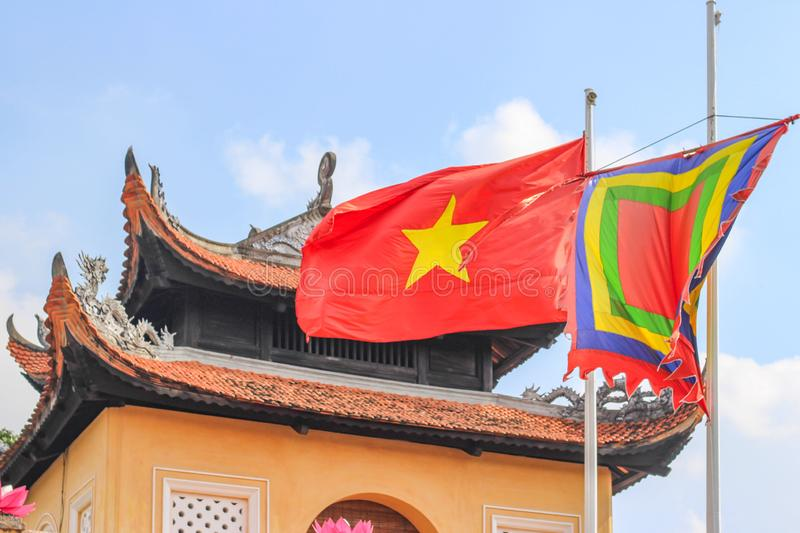 IMPERIAL CITADEL OF THANG LONG which is a UNESCO World Heritage Site in Hanoi, Vietnam royalty free stock photography