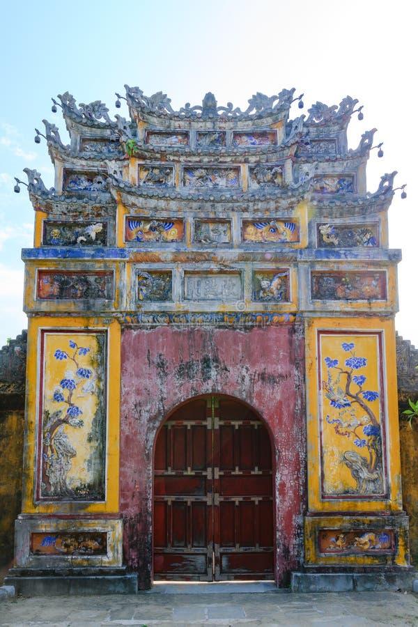 Imperial City Hue, Vietnam. Gate of the Forbidden City of Hue. stock photos