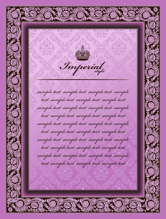 Imperial colour frame flower decorative vintage royalty free illustration