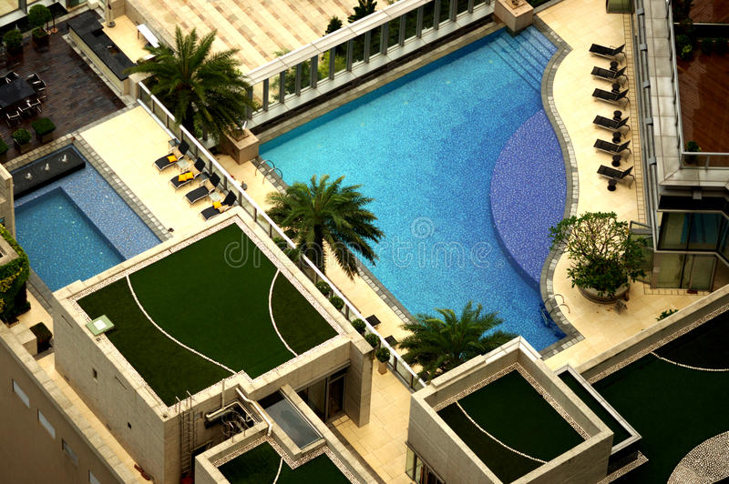 Imperial Cullinan swimming pool stock images