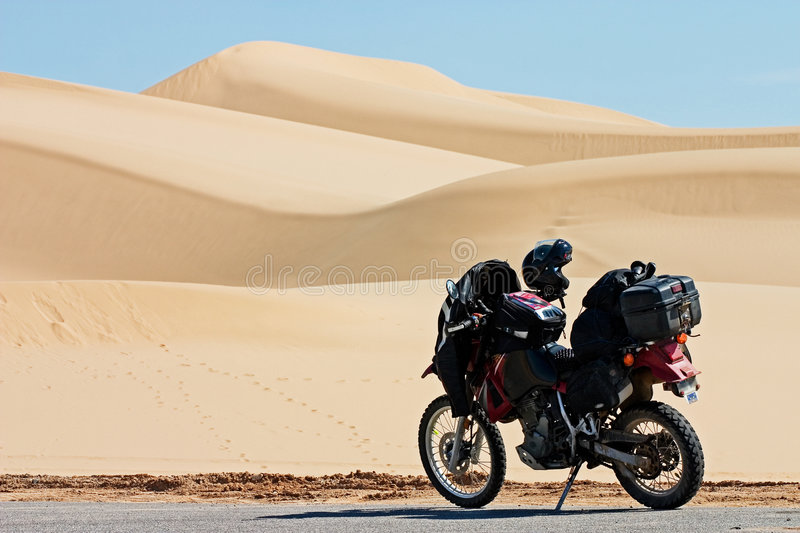 Imperial Dunes Motorcycle royalty free stock image