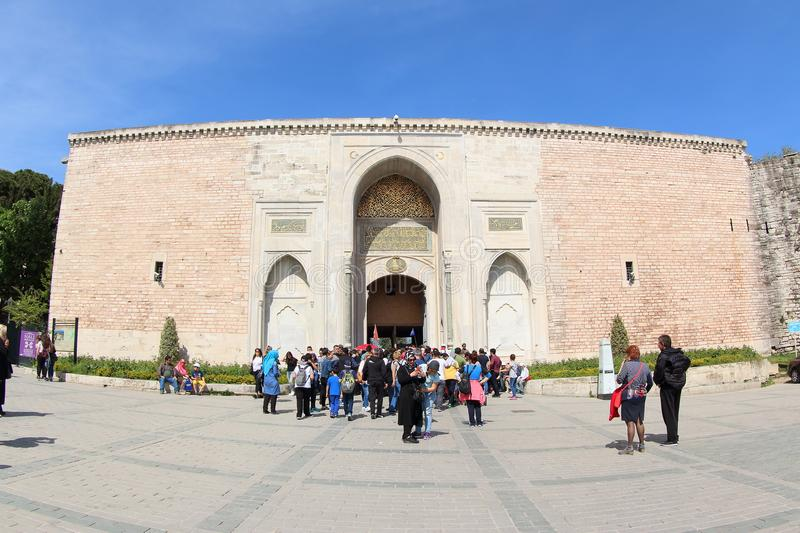 The Imperial Gate of Topkapi Palace stock photography