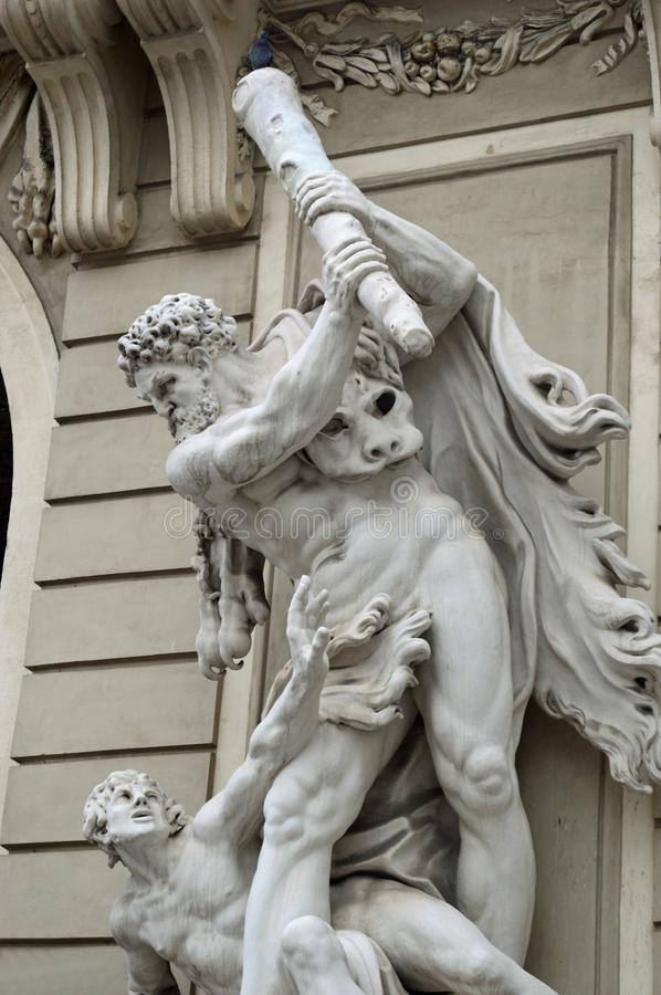 Hofburg Palace St Michael`s Wing statue detail Vienna royalty free stock photography