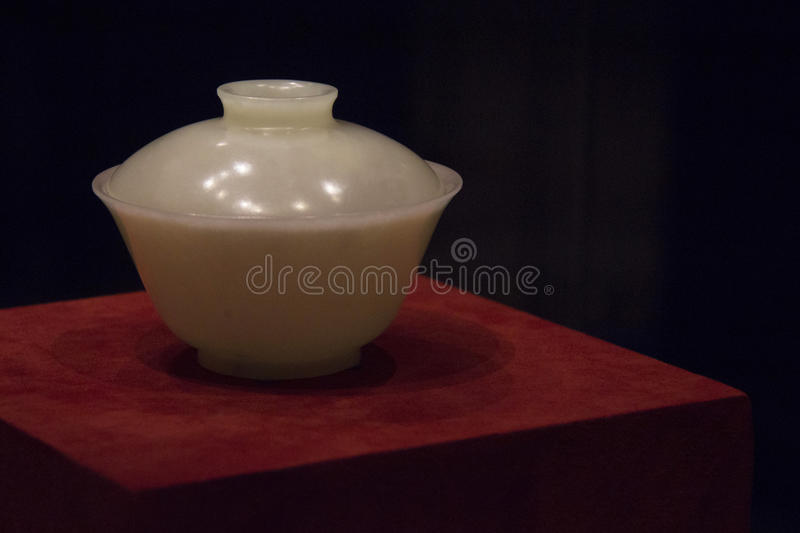 Imperial jade bowl stock photography