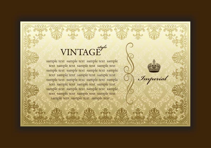 Download Imperial Old Framework Decorative Vintage Stock Vector - Illustration of modern, decoration: 14014616