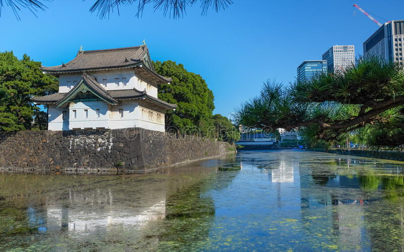 Imperial Palace view in Tokyo. royalty free stock image