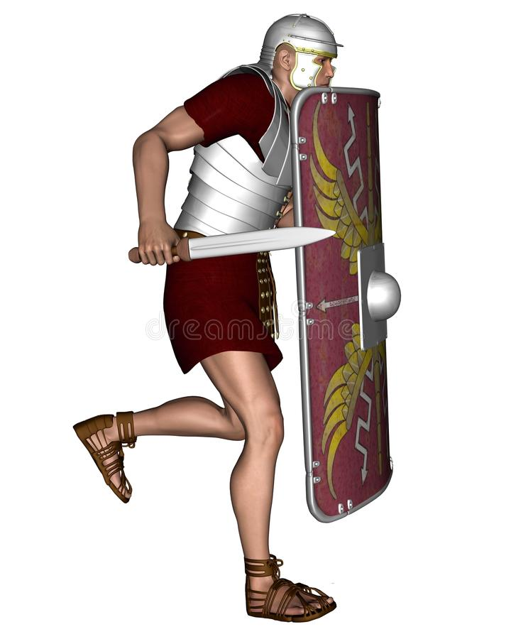 Download Imperial Roman Legionary Soldier - 2 Stock Illustration - Illustration: 19260660