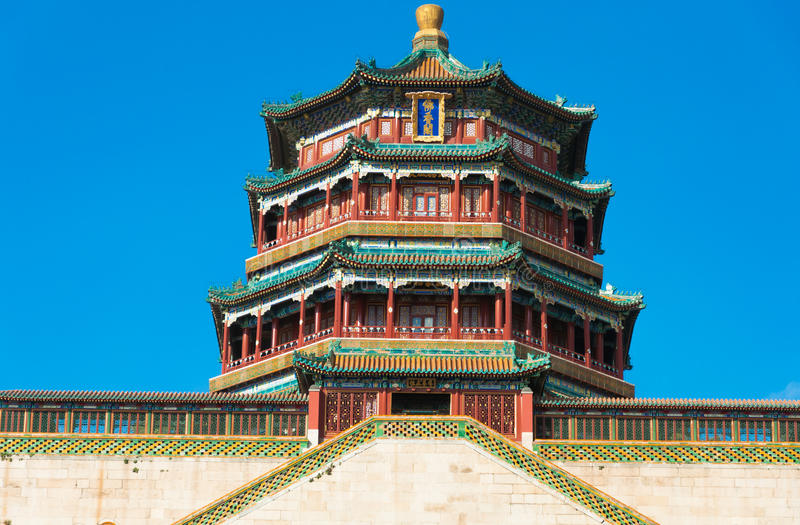Imperial Summer Palace in Beijing royalty free stock images