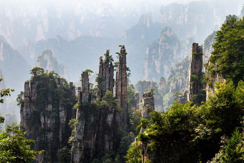 Imperial writing brush in Tianzi Mountain area in the Wulingyuan National Park, Zhangjiajie, Hunan, China. royalty free stock images