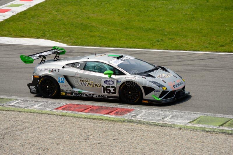 Imperiale赛跑的Lamborghini Gallardo意大利GT 2015年在蒙扎 免版税库存照片