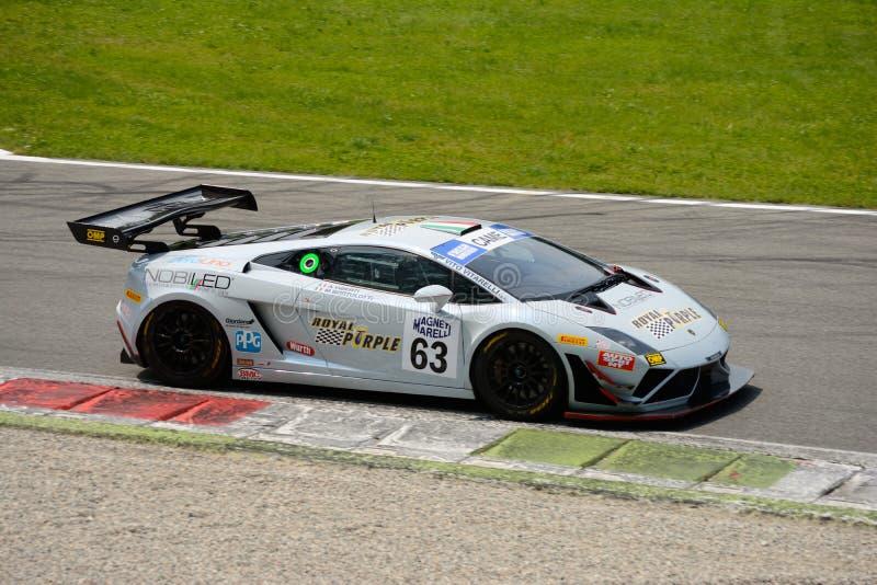 Imperiale赛跑的Lamborghini Gallardo意大利GT 2015年在蒙扎 免版税库存图片