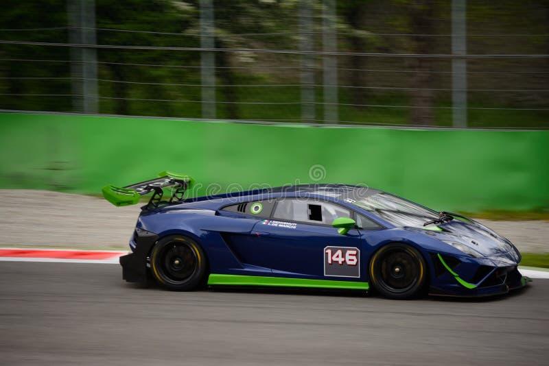 Imperiale赛跑的Lamborghini Gallardo GT3在蒙扎 免版税库存图片
