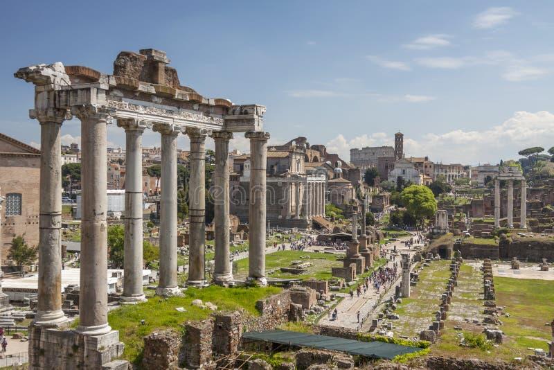 Imperiali do fori de Roma imagem de stock