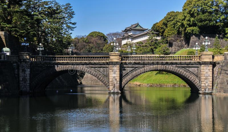 imperialistisk japan slott tokyo royaltyfria foton