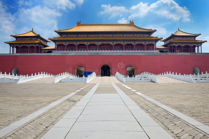 Imperialistisk slott (Forbidden City) arkivfoton