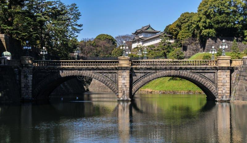 Imperialistisk slott, Tokyo, Japan fotografering för bildbyråer