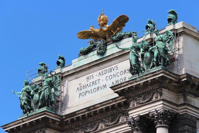 Imperialistisk slott - Wien - Österrike arkivbilder