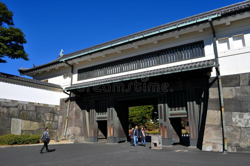 Imperialistiska slottträdgårdar Tokyo Japan arkivbilder