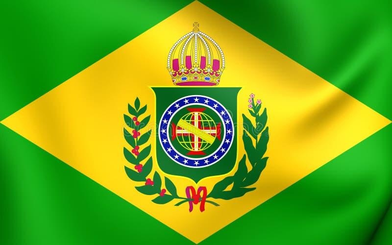Imperio de la bandera 1822-1889 del Brasil libre illustration