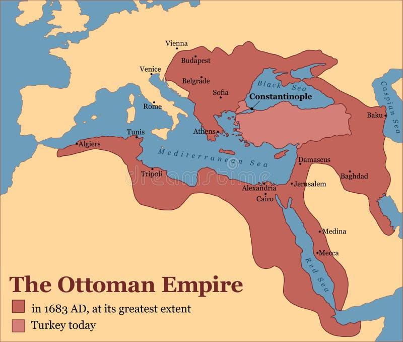 Imperio otomano Turquía stock de ilustración