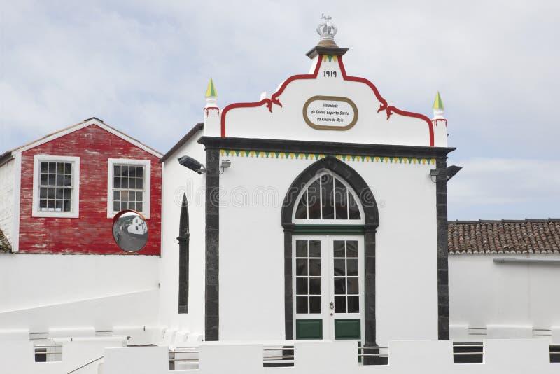 Imperio tradizionale della cappella delle Azzorre nell'isola di Pico Le Azzorre, Portug immagini stock libere da diritti