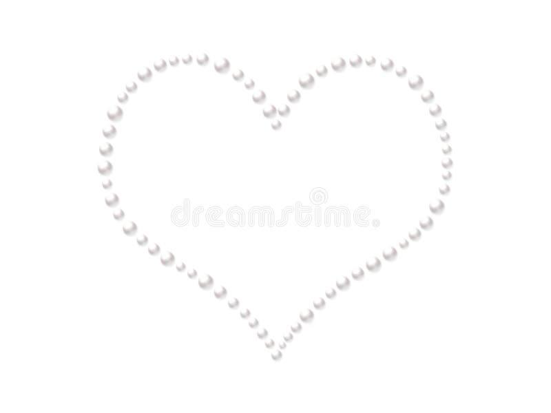 Imperla il cuore royalty illustrazione gratis