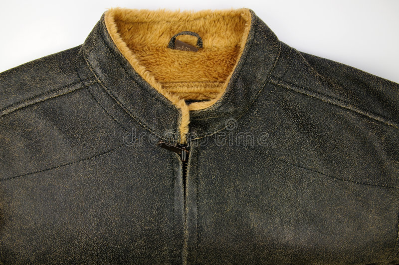 Impermeabilice la chaqueta leather-like imágenes de archivo libres de regalías