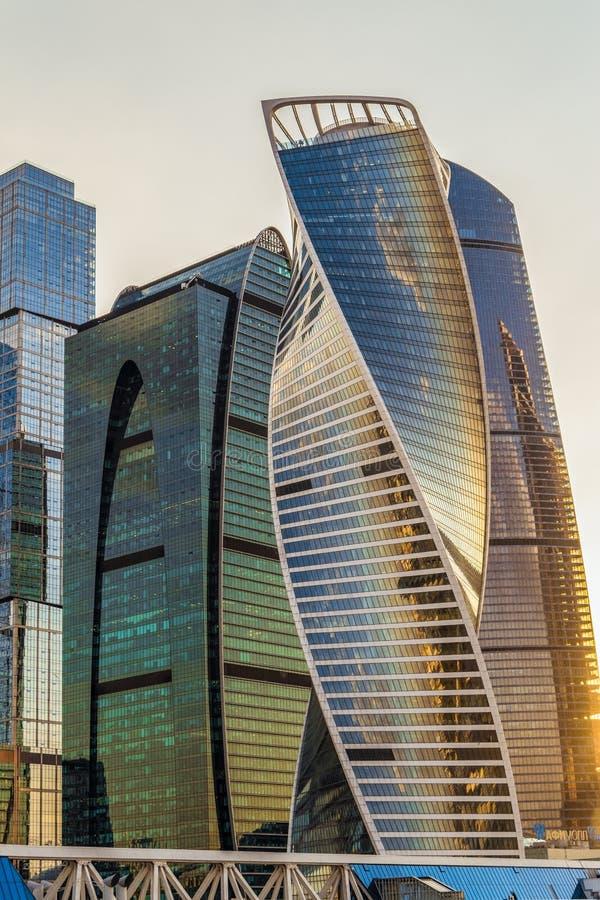 Impero complesso di evoluzione e di affari delle torri del centro internazionale di affari della Mosca-città fotografia stock