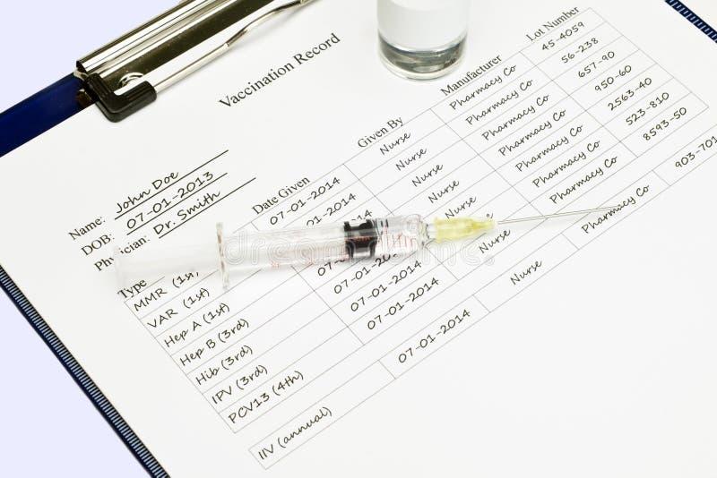 Impfpass stockfotografie