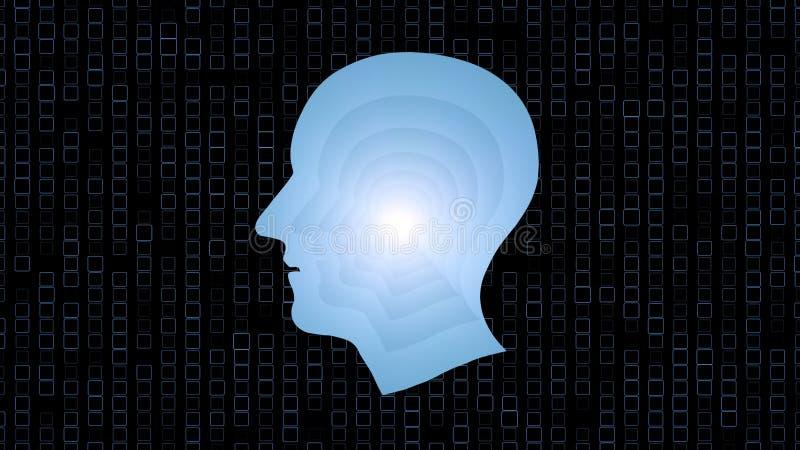 Impianti di cervello, intelligenza artificiale AI e concetto di alta tecnologia royalty illustrazione gratis