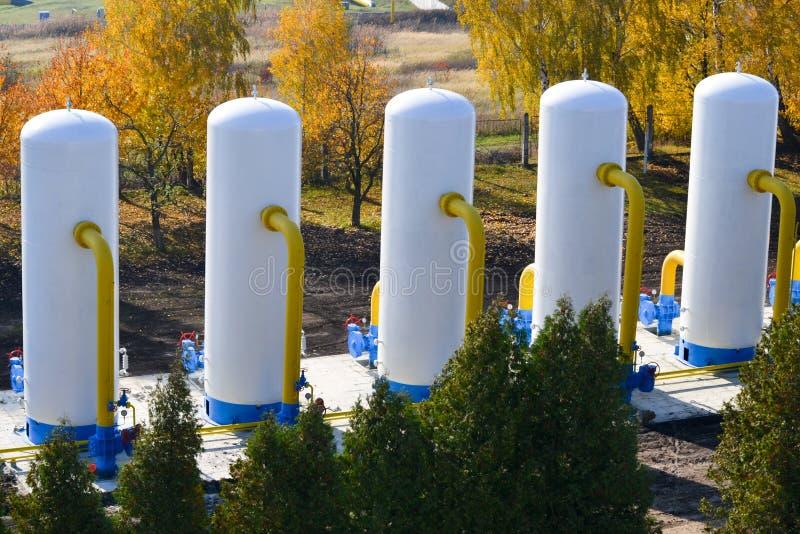 Impianto di lavaggio del gas naturale fotografia stock libera da diritti