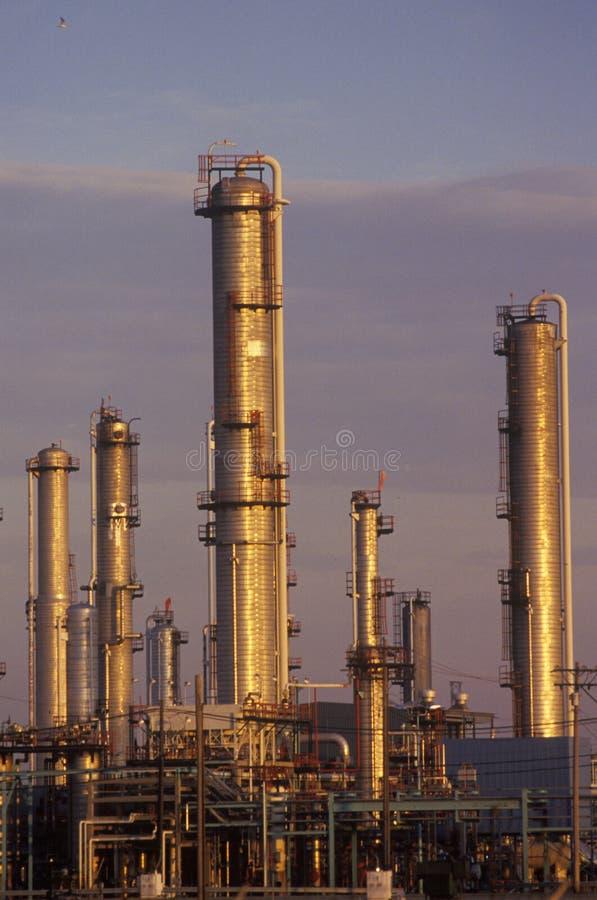 Impianto di lavorazione del petrolio a Sarnia, Canada fotografie stock libere da diritti