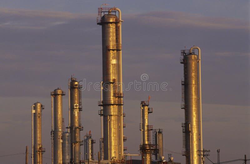 Impianto di lavorazione del petrolio a Sarnia, Canada fotografie stock
