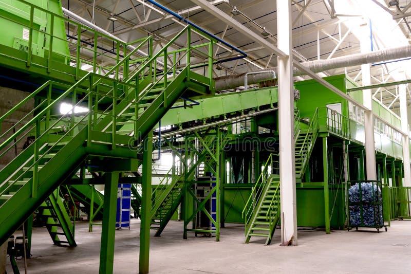Impianto di lavorazione residuo Processo tecnologico per accettazione, stoccaggio, la separazione e la trasformazione ulteriore d fotografia stock