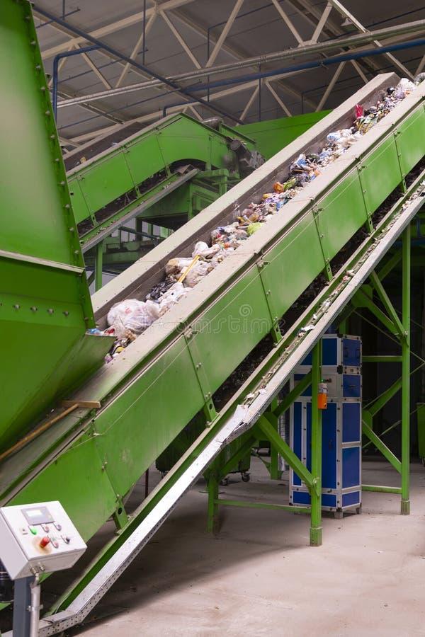 Impianto di lavorazione residuo Processo tecnologico per accettazione, stoccaggio, la separazione e la trasformazione ulteriore d fotografia stock libera da diritti