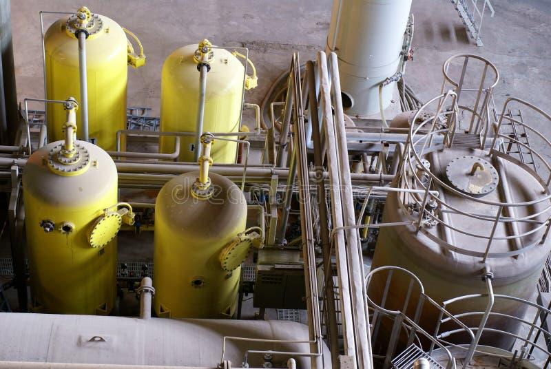 Impianto di per il trattamento dell'acqua immagini stock libere da diritti