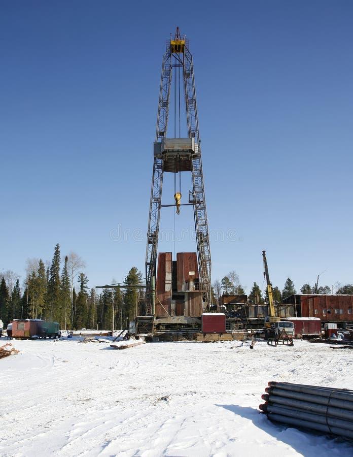 Impianto di perforazione della trivellazione petrolifera Industria petrolifera equipment immagine stock